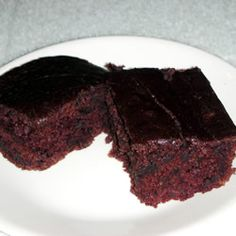 Egg-free, Dairy-free, Nut-free chocolate cake recipe.  This is my go-to for chocolate cake.
