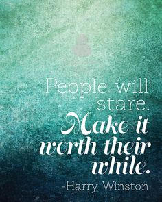 Harry Winston Quote Inspirational Art Print by digibuddhaArtPrints