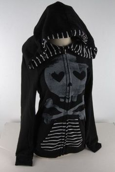 Abbey Dawn by Avril Lavigne heartcore Hoodie Black Zip s Small | eBay