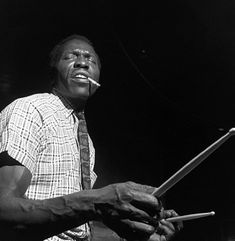 Elvin Jones was a jazz drummer of the post-bop era. He worked as a sideman for Charles Mingus, Teddy Charles, Bud Powell and Miles Davis. From 1960 to 1966 he was a member of the John Coltrane quartet (along with Jimmy Garrison on bass and McCoy Tyner on Piano), a celebrated recording phase, appearing on such albums as A Love Supreme.