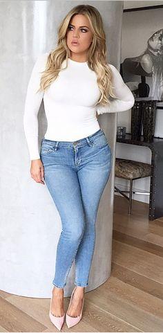 #khloekardashian #kuwtk #jeans #white #makeup