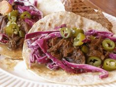 pulled venison tacos