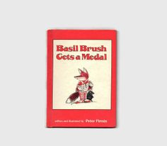 Vintage Hardcover Childrens Book :: Basil Brush Gets A Medal 1978 by Peter Firmin SunsetStreet on Etsy, $5.00