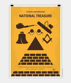 30 Minimal Movie Posters for Inspiration Minimal Movie Posters, Minimal Poster, Poster S, National Treasure, Poster Designs, Films, Movies, Minimalist Design, Cave