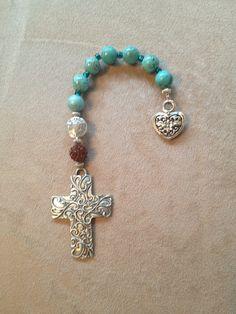 Handmade pocket Anglican prayer beads.