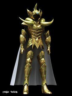 Las 2 armaduras doradas reales3