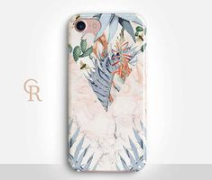 Floral Marble Phone Case Case For iPhone 8 iPhone 8 Plus