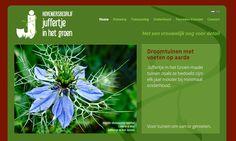 New website for gardening company Juffertje in het Groen (www.juffertjeinhetgroen.eu). Logo and website design by www.zedline.nl; Dutch text by: www.werkwoordwinkel.nl; Website and SEO by www.eyeconmedia.com.