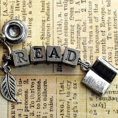 Read Book Lovers Key Ring Literary Bookish Jewelry by ALikelyStory, $17.95