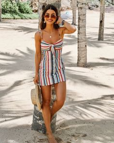 Discover recipes, home ideas, style inspiration and other ideas to try. Spring Outfits, Trendy Outfits, Cute Outfits, Fashion Outfits, Honeymoon Outfits, Vacation Outfits, Outfit Strand, Vestido Casual, Looks Vintage