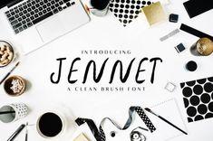 Jennet Brush Font Family by Faraz Ahmad for CreativeTacos on Dribbble Free Brush Script Font, Brush Font, Free Typeface, Script Typeface, Best Free Fonts, Cute Fonts, Creative Fonts, Beautiful Fonts, Free Fonts Download