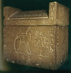 Sarcophagus of Ta-Miaut - 'She-Cat' - pet of Crown Prince Thutmose, elder brother of Akhenaten, 18th Dynasty.