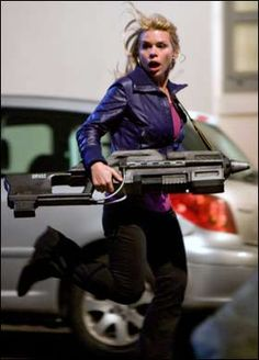 I love Rose Tyler from Doctor Who! Her style is so chic, making a statement with only a few pieces.