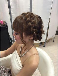 【GROSS心斎橋】あみこみカチューシャアップ☆ Wedding Hair And Makeup, Bridal Makeup, Hair Makeup, Hair Arrange, Hair Looks, Wedding Hairstyles, Salons, Braids, Hair Beauty