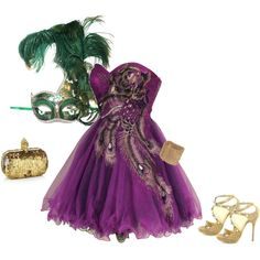 Mardi Gras, created by airrazor23.polyvore.com  Thank you for all the PINS this was one of my first sets when I did not know what I was doing. It continues to be everyone's favorite!