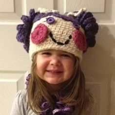LalaLoopsy Doll inspired Crochet Hat