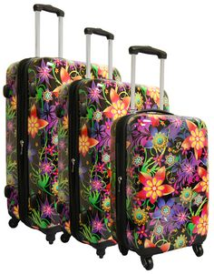 Heys USA Novus Art Floral Burst 3 Piece Luggage Set;