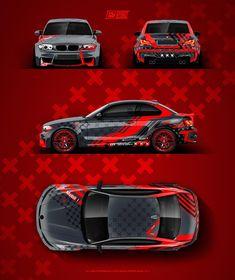 "💥 BMW - ""Lines & Crosses graphics"" design project. Wrap b - Autolacke - Auto Audi, Porsche, Bmw M1, Cool Car Stickers, Car Decals, Lamborghini, Carros Bmw, Megane Rs, Racing Car Design"