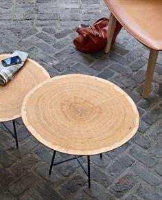 Side table / contemporary / oak / steel ALBURNI by Lucidi Pevere Ligne Roset