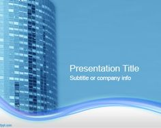 Office Building PowerPoint template is a free original PowerPoint background that you can download and use for business presentations as well as presentations on constructions or even in business Real Estate ventures