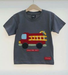 Personalised children's Fire Engine T shirt by Titchy.net