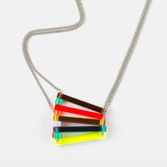 fold over perspex necklace by toolally jewellery | notonthehighstreet.com