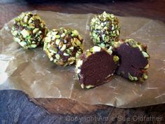 Spiced Pistachio Brigadeiro Truffles - Pronounced, bri-ga-DAY-ro. It is a simple form of a Brazilian chocolate bonbon, created in the 1940s and named after Brigadier Eduardo Gomes, whose shape is reminiscent of some varieties of chocolate truffles.