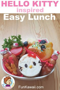 Get inspiration and idea for your kids lunch! This cute Hello Kitty bento was easy to make, I'm sharing tips and advice with you! Healthy Lunches For Kids, Healthy School Lunches, Fun Snacks For Kids, Kids Meals, Healthy Snacks, Bento Box Lunch For Kids, Easy Lunch Boxes, Lunch Ideas, Cute Food