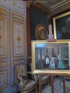 The Interiors of  Chateau de Malmaison. Jean Louis Victor Viger du Vigneau, dit Hector Viger (Argentan, 1819 ; Paris?, 1879) L'impératrice Joséphine reçoit à la Malmaison la visite du Tsar Alexandre Ier ( vers 1864, Musée national du Château de Malmaison).