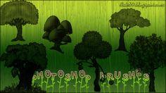 Pincéis (Brushes) para Photoshop - Desenhos de Árvores | Bait69Network
