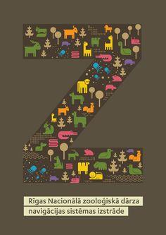 Identity and signage for Riga Zoo by Maija Gadzāne, via Behance