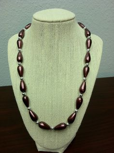 Copper colored handmade beaded necklace by SteeleSparkles on Etsy, $20.00