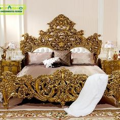Italian baroque bedroom furniture birch wood double bed designs king size bed, View birch Wood Double Bed Designs, OE-FASHION Product Details from Fos. Italian Bedroom Furniture, Royal Furniture, Bedroom Furniture Sets, Bed Furniture, Luxury Furniture, Furniture Dolly, Classic Furniture, Baroque Bedroom, Fancy Bedroom