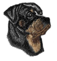 Dog - Rottweiler - Rottie - Pet - Side View - Embroidered Iron On Patch #Unbranded