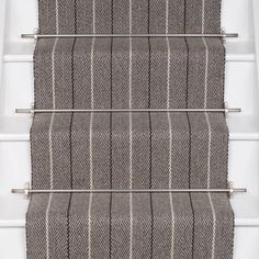 Designers and Makers of unique stripe runners, rugs and fabrics in natural fibres. Simply Luxury for Modern Living Cool Chandeliers, Carpet Staircase, Shetland Wool, Carpet Runner, Runners, Collections, Rugs, Grey, Fabric