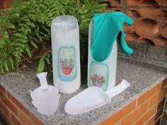 Kit jardinagem com embalagem de sabonete líquido/ amaciante