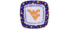 WVU Mountaineer square plate.