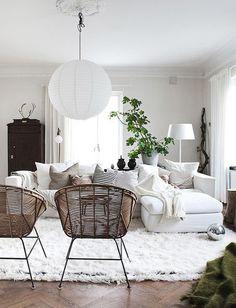 dream space #white #livingroom #homedecor