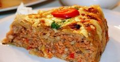 Pie with cabbage and minced meat to taste on . Vegetable Stir Fry, Vegetable Recipes, Meat Recipes, Cooking Recipes, Hungarian Recipes, Russian Recipes, Enjoy Your Meal, Chicken And Cabbage, Romanian Food