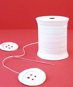Sewing supplies made of paper by Matthew Sporzynski for Real Simple