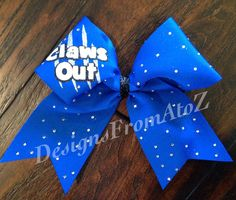 Claws Out Cheer Bow by DesignsFromAtoZ on Etsy https://www.etsy.com/listing/181707559/claws-out-cheer-bow