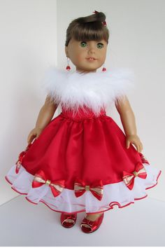 American girl doll clothes Christmas Santa by AtelierTamieNY, $289.00
