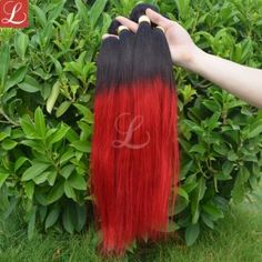 1 Bundle Red Hair Straight 100% Real Human Hair Dyed Weave Hair Extensions