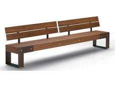Panchina in legno IDEAS L - T by Metalco | design Alfredo Tasca