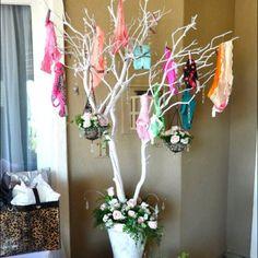 Bridal shower panties tree! I can always use new undies lol