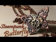 Steampunk Butterfly Charm/Ring - Polymer Clay Tutorial - YouTube