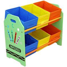 Buy Bebe Style Crayon 6 Bin Storage - Green at Argos £20.99