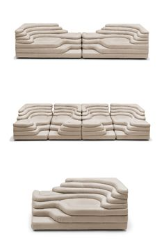 The sculptural, stepped slope of DS-1025 offers varying widths and depths and may be used as a stand alone piece or combined to make your own seating interpretation. #deSede #Interiors #InteriorDesign #DesignInspiration #HomeInspiration #Design Modern Furniture Stores, Lounge Sofa, Ds, Design Inspiration, Indoor, Couch, Interiors, Contemporary, Interior Design