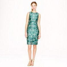 J.Crew Collection silk shantung dress in photo lace on shopstyle.com