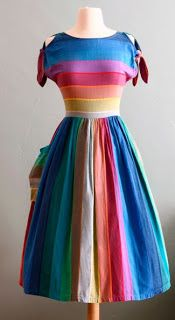 ideas for vintage ropa vestidos Hippie Vintage, Vintage Mode, Rainbow Outfit, Rainbow Fashion, Rainbow Clothes, Estilo Hippie, Estilo Retro, Vintage Outfits, Vintage Dresses